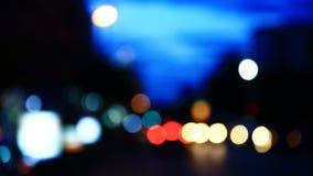 Flare night traffic lights-Bangkok THAILAND.  stock footage