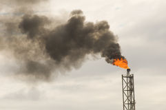 Flare Of An Offshore FPSO Oil Rig Royalty Free Stock Photos