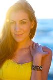 Flare Portrait at the Beach Royalty Free Stock Photos