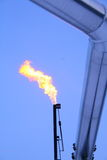 Flare stack with pipe Stock Image