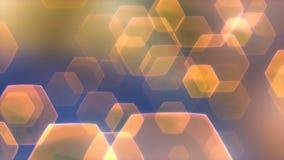 Flarez //4k 60fps obiektywu Pomarańczowych Błękitnych Eleganckich raców tła Wideo pętla ilustracji