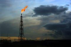 flaring положение газа Стоковое Изображение