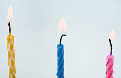 Flaring candles Royalty Free Stock Images