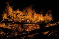 The  flaring fire Royalty Free Stock Images