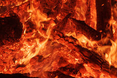 Flaring heat fire and coals Royalty Free Stock Images