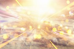 flary soczewki abstrakcyjne pojęcie wizerunek przestrzeni, czasu podróży tło nad lub Zdjęcie Royalty Free