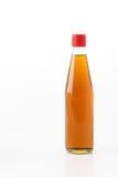 Flasche Öl des indischen Sesams Stockfoto