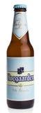 Flasche Belgier Hoegaarden-Weizenbier Lizenzfreies Stockfoto