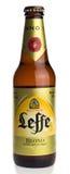 Flasche blondes Bier Belgier Leffe Lizenzfreies Stockfoto