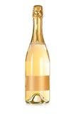 Flasche Champagner mit Kennsatz stockfotos