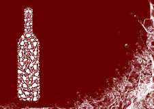 Flasche des weißen Weins Stockfotos