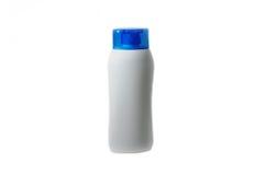 Flasche für Shampoo, Reinigungsseife der Flüssigkeit, Tonergesicht und Dusche Stockfotografie