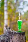 Flasche Gift, giftige Kapsel, Halloween Stockbilder