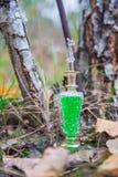 Flasche Gift, giftige Kapsel, Halloween Lizenzfreie Stockbilder