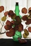 Flasche hinter den Blättern Lizenzfreie Stockbilder