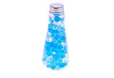 Flasche mit dem Hydrogel lokalisiert Lizenzfreie Stockfotos