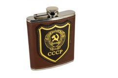 Flasche mit Emblem der UDSSR Stockfoto