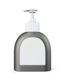 Flasche mit Pumpe auf weißem Hintergrund Wiedergabe 3d lizenzfreie stockfotografie