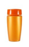 Flasche mit Sonnencreme Stockbilder