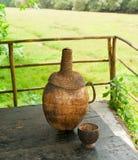 Flasche mit traditionellem Acajoubaumgetränk. Goa Lizenzfreies Stockbild