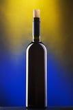 Flasche Rotwein Stockfotografie