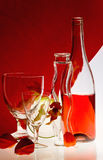 Flasche Rotwein Stockfoto