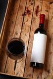 Flasche Rotwein Lizenzfreies Stockfoto