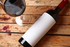 Flasche Rotwein Lizenzfreies Stockbild
