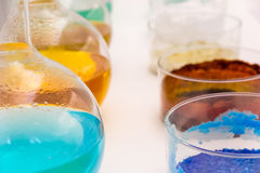 Flasche und Farbe Stockfotos