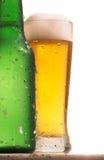 Flasche und Glas Bier stockbild