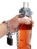Flasche und Hand Stockfotografie
