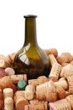 Flasche und Korken Stockbild