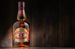 Flasche von Chivas Regal 12 mischte schottischen Whisky Lizenzfreies Stockbild