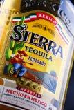 Flasche von Sierra Tequila Stockbild