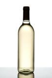 Flasche weißer Wein. Stockfotos