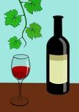 Flasche Wein Stockbild