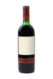 Flasche Wein mit leerem Kennsatz Stockbilder
