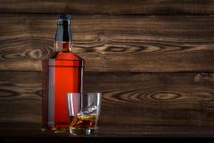 Flasche Whisky Lizenzfreie Stockfotos
