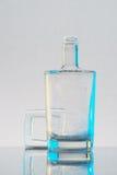 Flasche whith Schaum Stockfotografie