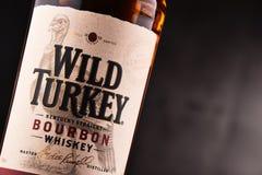 Flasche wilder gerader Bourbonwhisky der Türkei Kentucky Stockfotografie