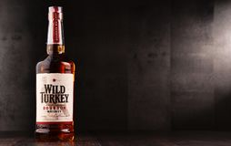 Flasche wilder gerader Bourbonwhisky der Türkei Kentucky Lizenzfreie Stockfotografie