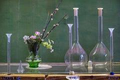 Flaschen auf dem Tisch Verba stockfotos