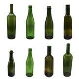 Flaschen auf Weiß Lizenzfreie Stockfotos