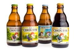 Flaschen Belgier Chouffe-Bier Stockbild