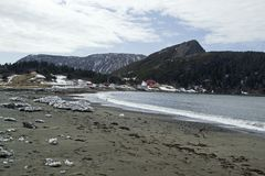 Flaschen-Bucht, Bucht von Inseln Neufundland stockfotos