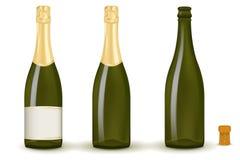 Flaschen Champagner lizenzfreie abbildung