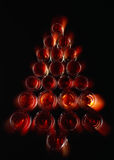 Flaschen in der Form eines Weihnachtsbaums Lizenzfreies Stockfoto