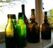 Flaschen in der Sonne Stockfoto