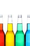 Flaschen getrennt auf Weiß Stockfotografie
