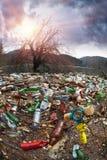 Flaschen im Reservoirberg Lizenzfreie Stockbilder